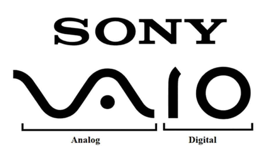 logo-Het analoge en digitale signaal komen samen